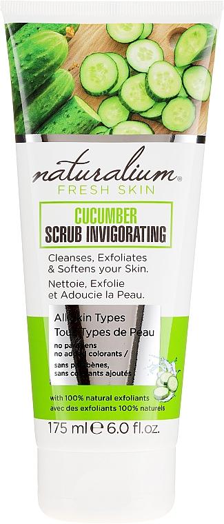 Освежающий скраб для тела - Naturalium Invigorating Cucumber Scrub