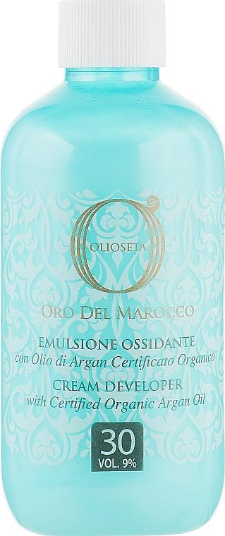 Окисляющая эмульсия с аргановым маслом 9% - Barex Italiana Olioseta de Maroco  — фото N1