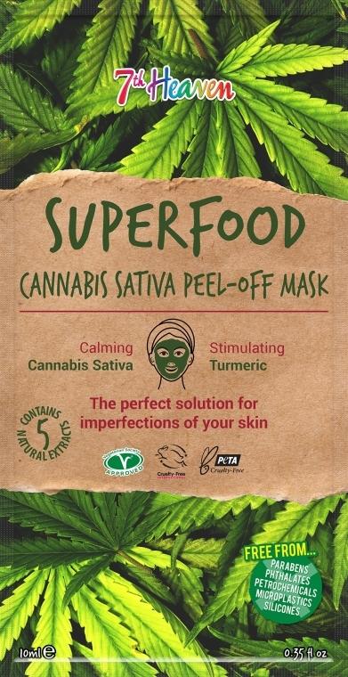 Маска-пленка для лица с маслом конопли - 7th Heaven Superfood Cannabis Sativa Peel-Off