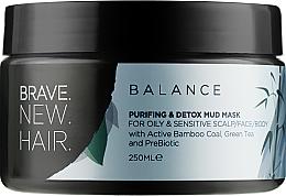 Духи, Парфюмерия, косметика Черная маска для чувствительной и жирной кожи головы - Brave New Hair Balance Mask