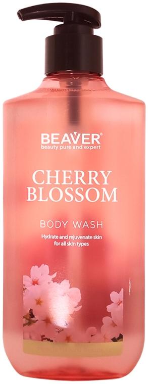 Гель для душа с экстрактом цветов Сакуры - Beaver Professional Cherry Blossom Body Wash — фото N1