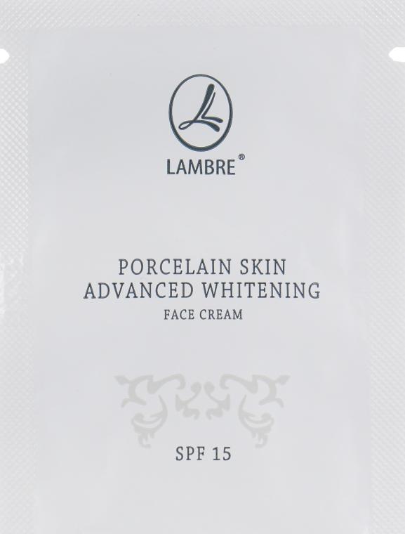 Крем для отбеливания и осветления кожи лица - Lambre Porcelain Skin Face Cream (пробник)