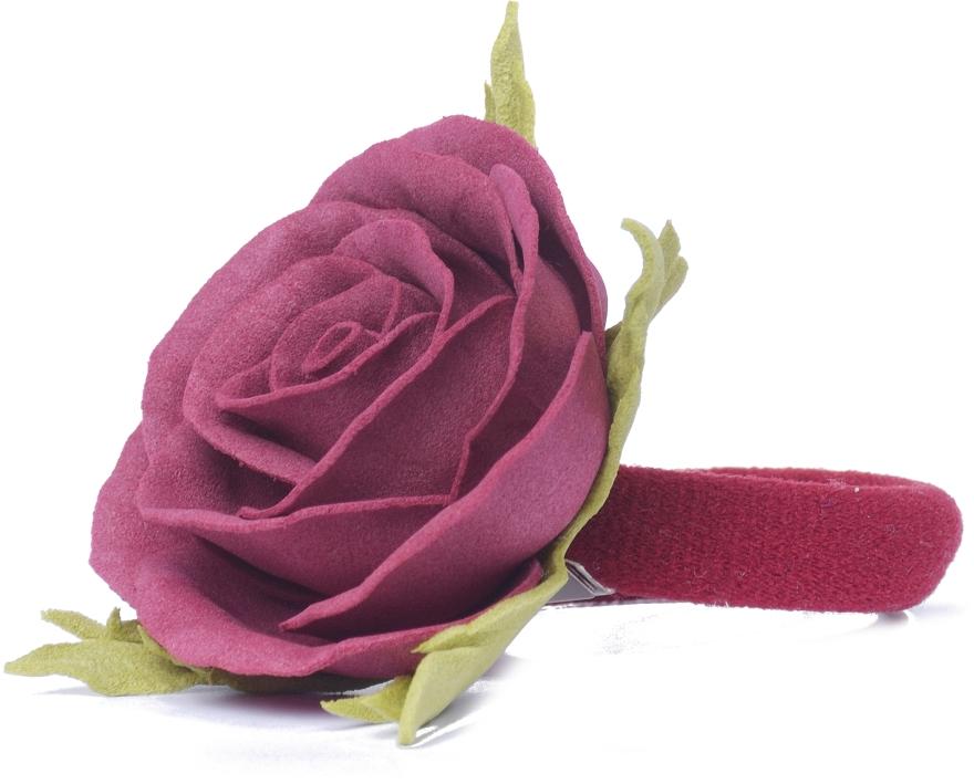 """Резинка для волос """"Бордовая роза"""", маленькая - Katya Snezhkova"""