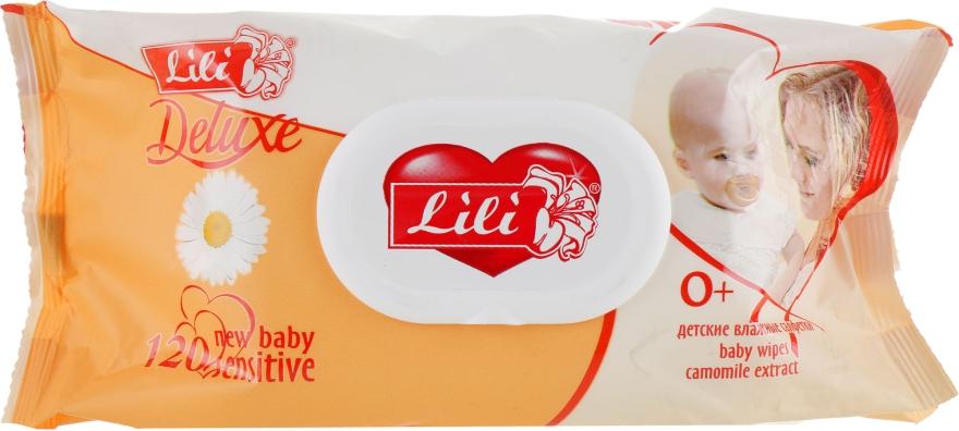 Детские влажные салфетки с клапаном, с экстрактом ромашки, 120шт - Lili Deluxe