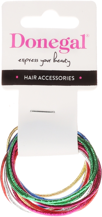Резинки для волос тонкие, FA-9911, 12 шт - Donegal