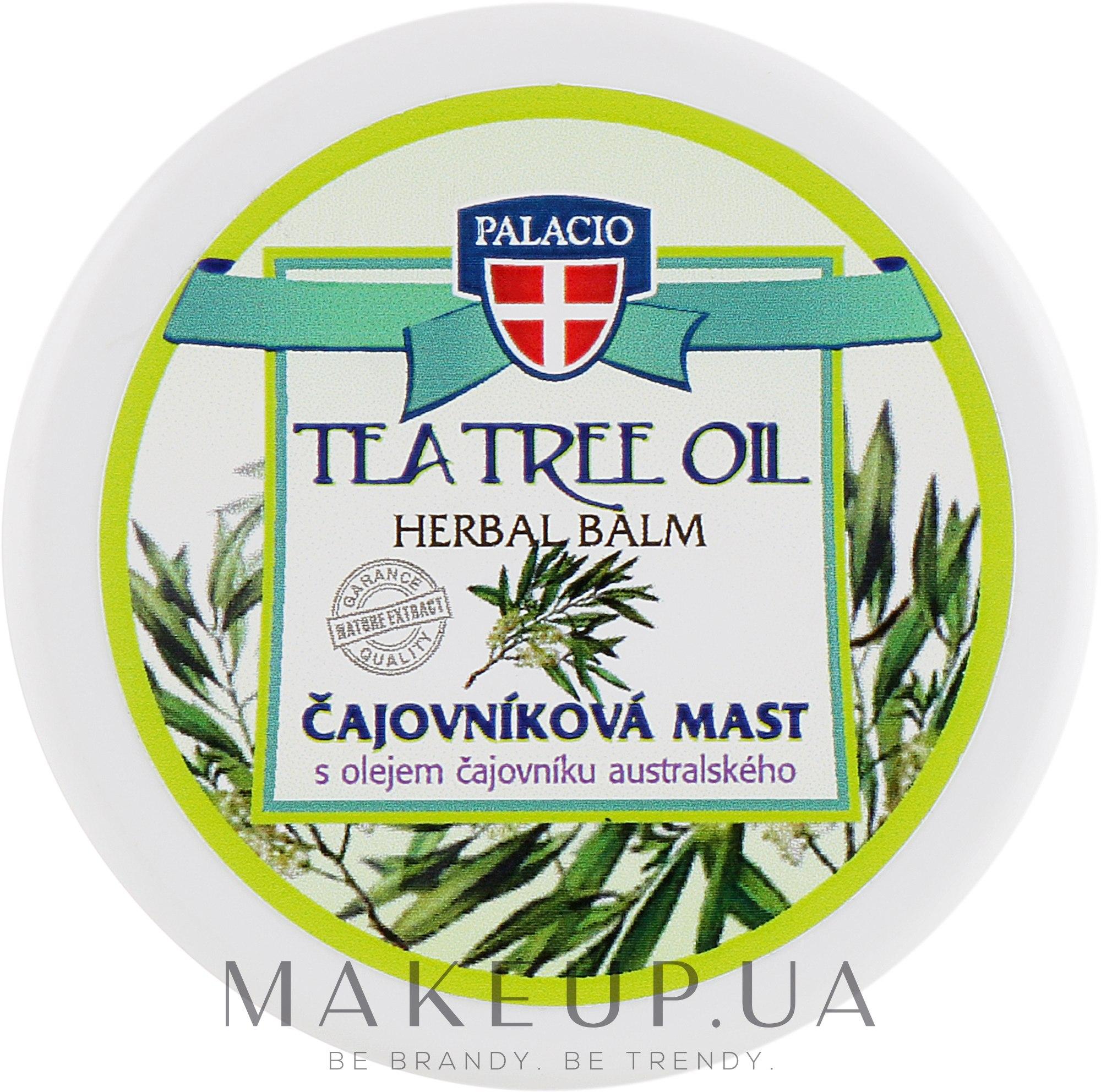 "Массажная вазелиновая мазь ""Масло чайного дерева"" - Palacio Tea Tree Oil Herbal Balm — фото 120ml"