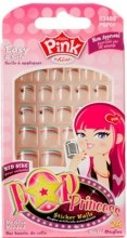 Парфумерія, косметика Дитячий набір накладних нігтів на клейовій основі - Kiss Pink Pop Princess
