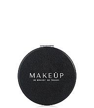 Духи, Парфюмерия, косметика Раскладное карманное зеркало круглое, черное - Makeup