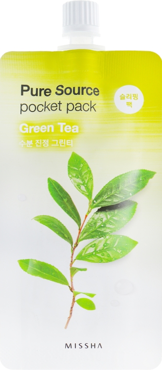 Маска для лица с зеленым чаем - Missha Pure Source Pocket Pack Green Tea