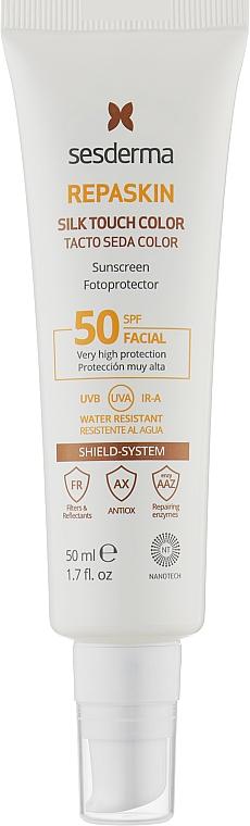 Солнцезащитное средство для лица с тонирующим эффектом - SesDerma Laboratories Repaskin Silk Touch Color SPF 50