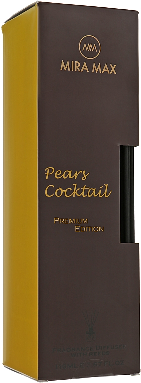 Аромадиффузор + тестер - Mira Max Pears Cocktail Fragrance Diffuser With Reeds Premium Edition