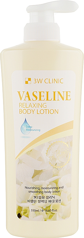 Лосьон для тела с вазелином - 3W Clinic Vaseline Relaxing Body Lotion