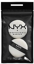 Духи, Парфюмерия, косметика Пуховка для пудры маленькая, 2 шт - NYX Professional Makeup Luxe Powder Puff Small