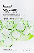 Духи, Парфюмерия, косметика Тканевая маска для лица - The Face Shop Real Nature Cucumber Face Mask