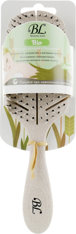 Щетка для волос из биопластика, 417003 - Beauty Line