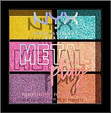 Духи, Парфюмерия, косметика Палетка пигментов для макияжа век, лица и тела - NYX Professional Makeup Metal Play Pressed Pigment Palette