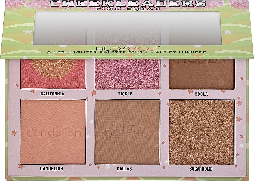 Палетка для контуринга - Hudamoji Cheekleaders Pink Squad Palette