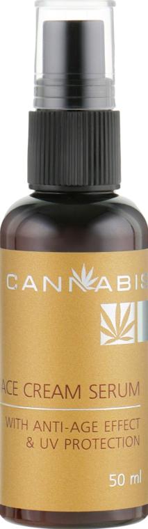 Крем-сыворотка для лица с антивозрастным эффектом и защитой от ультрафиолета с экстрактом каннабиса - Cannabis Face Cream Serum anti-age effect & UV protection