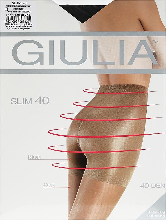 """Колготки для женщин """"Slim"""" 40 den, nero - Giulia"""