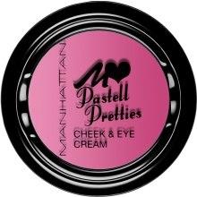 Духи, Парфюмерия, косметика Румяна - Manhattan Blush Pastell Pretties Cheek&Eye Cream
