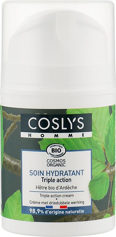 Крем тройного действия с органическим экстрактом почек бука - Coslys Men Care Triple Action CreamWith Organic Beech Bud Extract