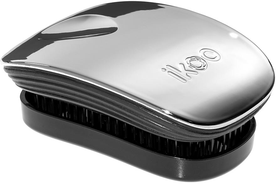 Расческа для волос - Ikoo Pocket Oyster Metallic Black