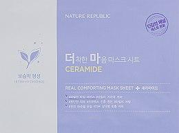 Духи, Парфюмерия, косметика Тканевая маска с керамидами - Nature Republic Real Comforting Mask Sheet Ceramide