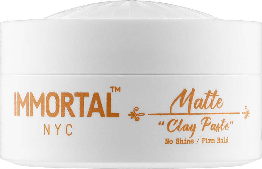 Матовая глиняная паста для волос - Immortal NYC Matte Clay Paste