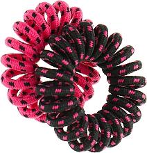 Духи, Парфюмерия, косметика Резинки для волос, 414580, черно-малиновая + малиново-черная - Glamour