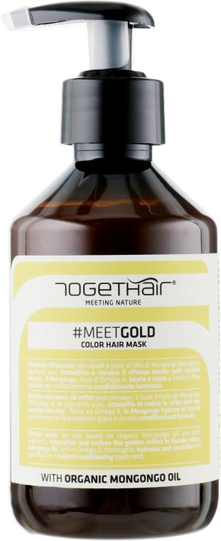 Оттеночная маска для волос - Togethair Meeting Nature Color Hair Mask Gold