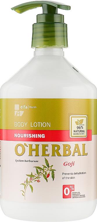 Питательный лосьон для тела с экстрактом годжи - O'Herbal Nourishing Lotion