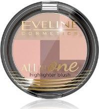 Парфумерія, косметика Рум'яна - Eveline Cosmetics All In One Highlighter Blush