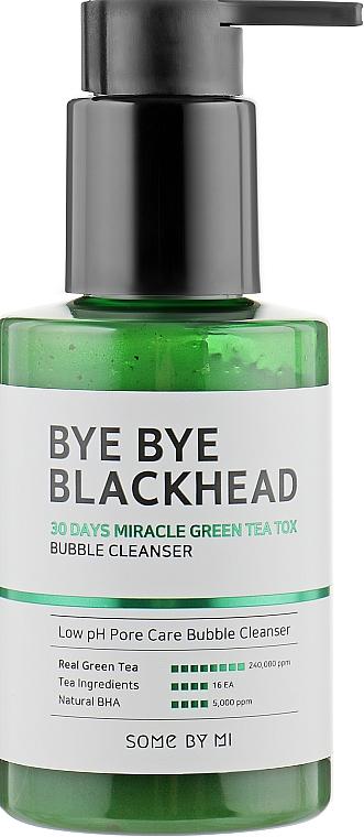 Маска-пенка от чёрных точек - Some By Mi Blackhead 30Days Miracle Green Tea Tox Bubble Cleanser