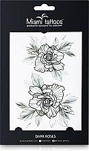 Духи, Парфюмерия, косметика Черные переводные тату - Miami Tattoos Dark Roses