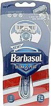 Духи, Парфюмерия, косметика Станок для бритья, с двумя сменными касетами - Barbasol Men Ultra 6 Plus