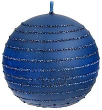 Духи, Парфюмерия, косметика Декоративная свеча, шар, синяя, 10 см - Artman Andalo