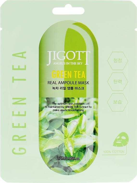 """Ампульная маска """"Зеленый чай"""" - Jigott Green Tea Real Ampoule Mask"""