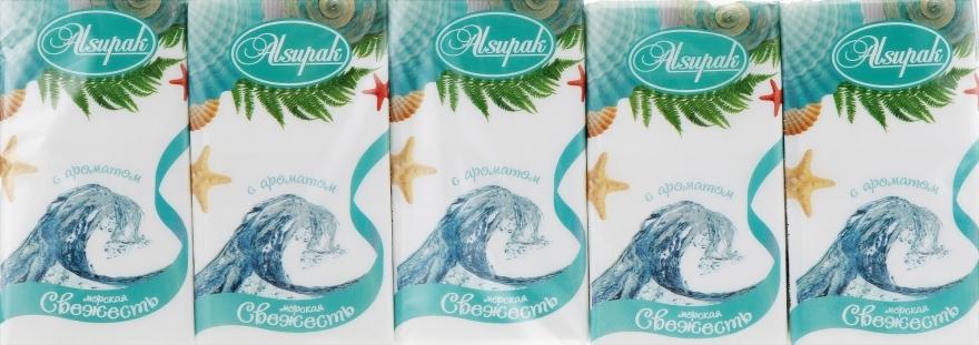 """Бумажные носовые платки, с ароматом """"Морская свежесть"""" - Alsupak"""