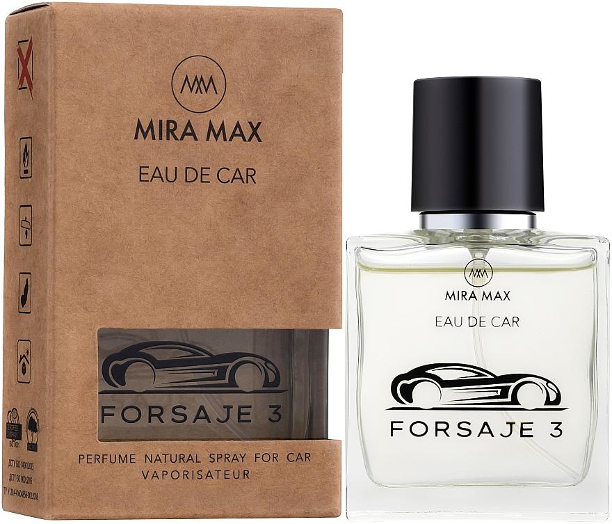 Ароматизатор для авто - Mira Max Eau De Car Forsaje 3 Perfume Natural Spray For Car Vaporisateur
