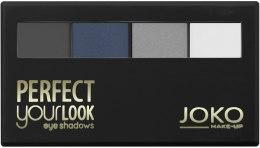 Духи, Парфюмерия, косметика Тени для век четырехцветные - Joko Perfect Your Look Quattro Eye Shadows