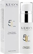 Духи, Парфюмерия, косметика Крем солнцезащитный для лица - Kuo's Sunscreen Face Cream Sun Protection SPF 50+