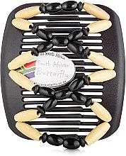 Духи, Парфюмерия, косметика Заколка для волос Beada 003, на коричневых гребнях - African Butterfly Hair Clip