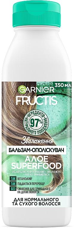 """Бальзам-ополаскиватель """"Алоэ"""", увлажнение для нормальных и сухих волос - Garnier Fructis Superfood"""