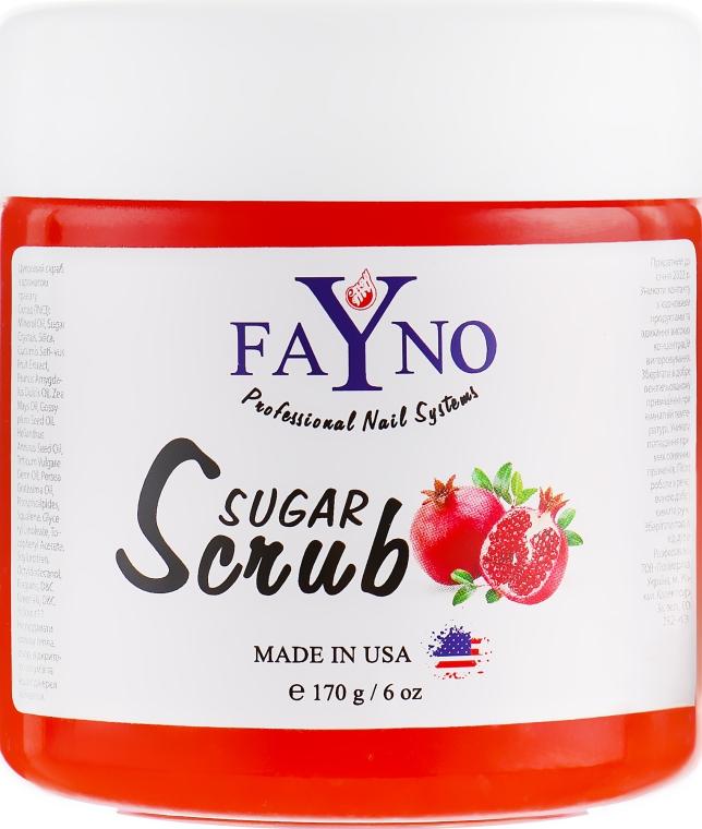 """Сахарный скраб """"Гранат"""" - Fayno Sugar Scrub"""