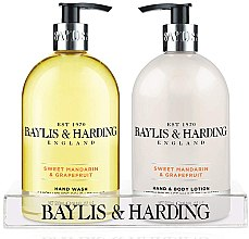 Духи, Парфюмерия, косметика Набор - Baylis & Harding Royal Bouquet Sweet Mandarin & Grapefruit (b/lot/500ml + soap/500ml)