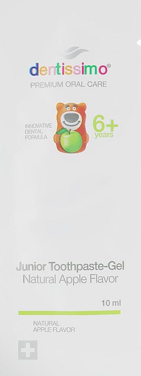 Зубная паста-гель для детей с яблочным вкусом - Dentissimo Junior Thoothpaste-Gel Natural Apple Flavor (пробник)