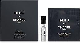Духи, Парфюмерия, косметика Chanel Bleu de Chanel Parfum - Набор (edt/1.5ml + cr/1ml)