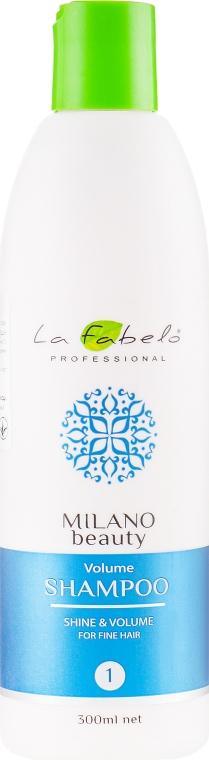 Шампунь для объема тонких волос - La Fabelo Professional Milano Beauty Volume Shampoo