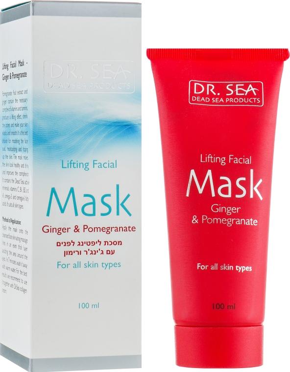 Лифтинг-маска для лица с имбирем и гранатом - Dr. Sea Lifting Facial Mask