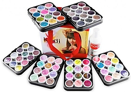 Духи, Парфюмерия, косметика УЦЕНКА Набор цветных акрилов в чемодане - Kodi Professional Colored Acrylics Kit *